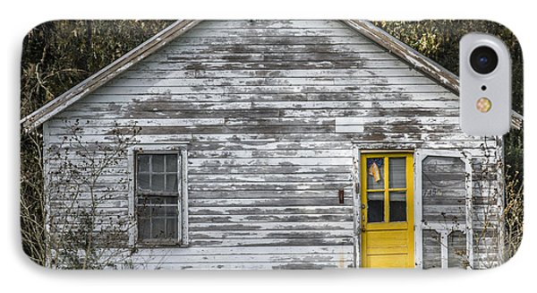 Defiant Yellow Door - Square IPhone Case by Terry Rowe