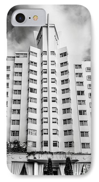 Delano Hotel - South Beach - Miami - Florida - Black And White IPhone Case by Ian Monk
