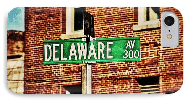 IPhone Case featuring the photograph Delaware Avenue Street Sign by Jim Albritton