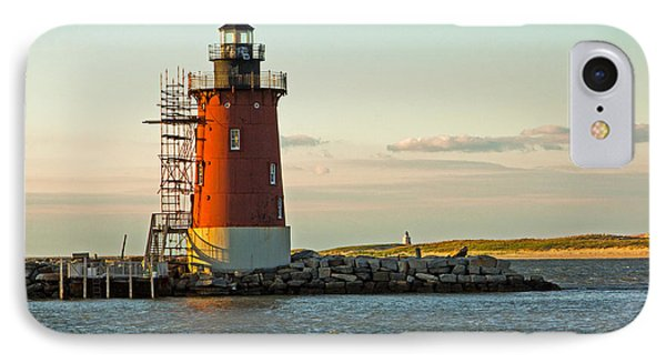 IPhone Case featuring the photograph Delaware Breakwater Light by Robert Pilkington