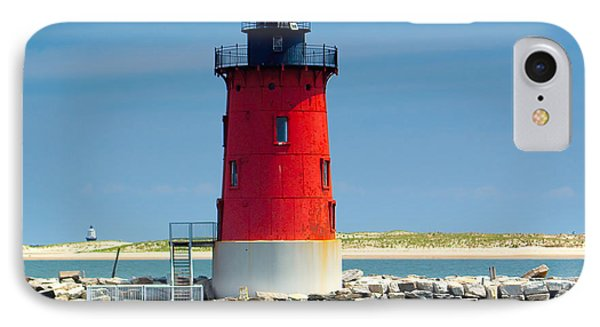 Delaware Breakwater Lighthouse IPhone Case by Nick Zelinsky