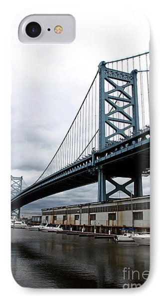 Delaware River Bridge - Philadelphia IPhone Case by Christiane Schulze Art And Photography