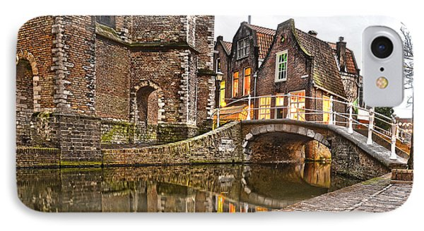 Delft Behind The Church IPhone Case by Frans Blok