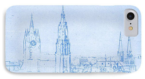Delft Netherlands Blueprint IPhone Case