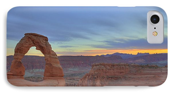 IPhone Case featuring the photograph Delicate Arch At Sunset by Alan Vance Ley