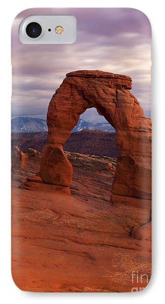 Delicate Arch Dusk IPhone Case by Mike Dawson