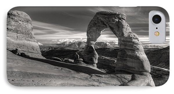 Delicate Arch Utah In Black And White IPhone Case by Pierre Leclerc Photography