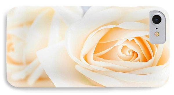 Delicate Beige Roses IPhone Case by Elena Elisseeva