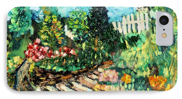 IPhone Case featuring the painting Delphi Garden by Michael Daniels
