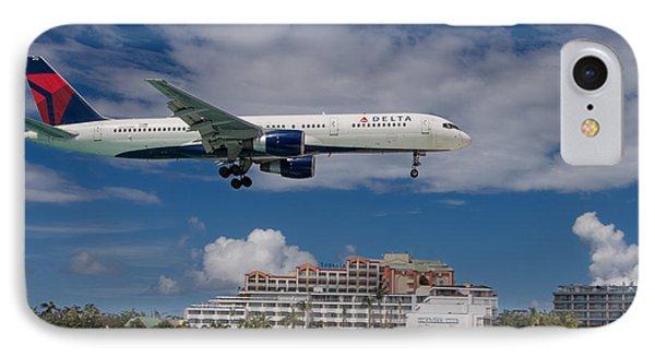 Delta Air Lines Landing At St. Maarten IPhone Case by David Gleeson