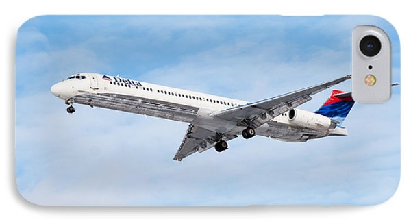 Delta Air Lines Mcdonnell Douglas Md-88 Airplane Landing Phone Case by Paul Velgos
