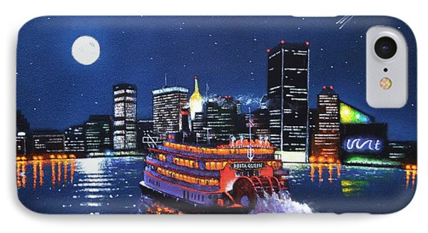 Delta Queen At Inner Harbor Baltimore Maryland IPhone Case