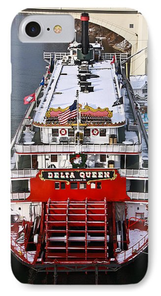 Delta Queen In Christmas Snow Phone Case by Tom and Pat Cory