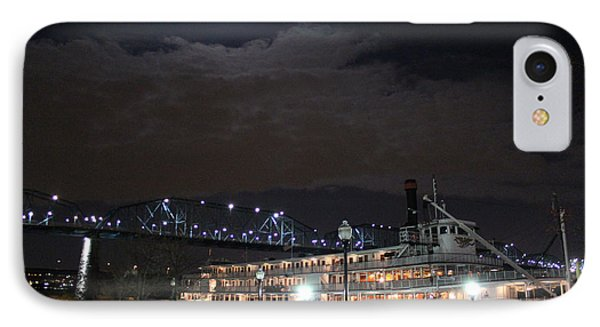 Delta Queen Under A Full Moon Phone Case by Kathy  White