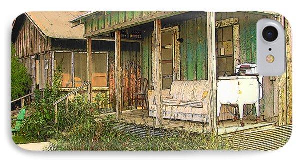 Delta Sharecropper Cabin - All The Conveniences IPhone Case by Rebecca Korpita