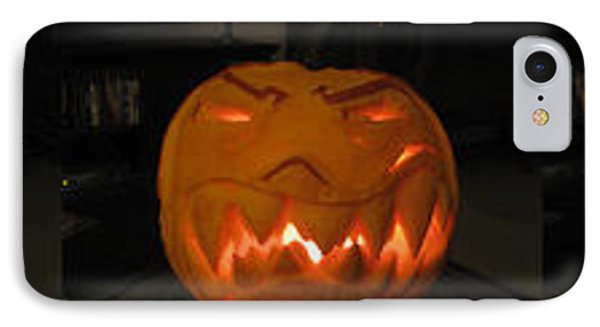 Demented Mister Ullman Pumpkin 2 IPhone Case by Shawn Dall