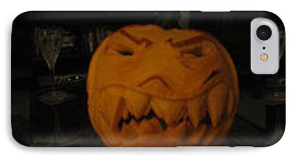 Demented Mister Ullman Pumpkin 3 Phone Case by Shawn Dall