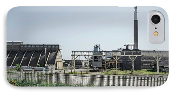Demolition Of Chemical Plant IPhone Case by Robert Brook