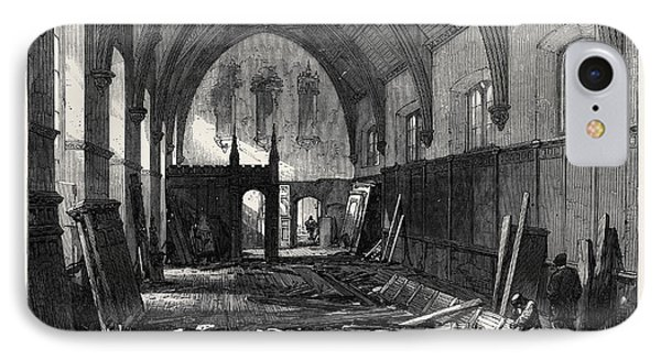 Demolition Of The Old Dining Hall Of The Inner Temple 1869 IPhone Case