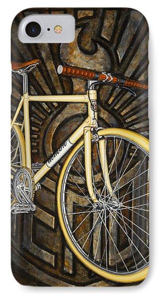 Demon Path Racer Bicycle Phone Case by Mark Jones