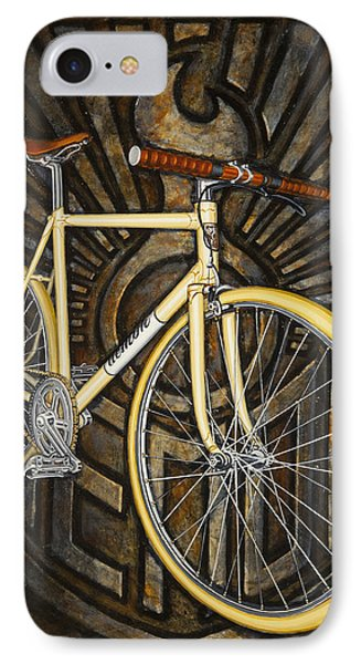 IPhone Case featuring the painting Demon Path Racer Bicycle by Mark Howard Jones