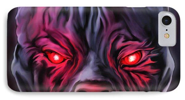 Demon Pit Bull IPhone Case
