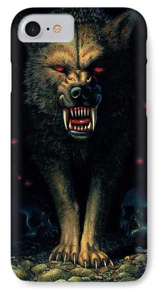 Demon Wolf IPhone Case by MGL Studio - Chris Hiett