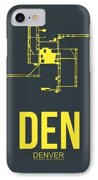 Den Denver Airport Poster 1 IPhone Case by Naxart Studio