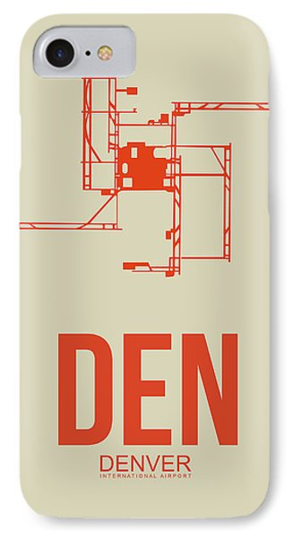 Den Denver Airport Poster 2 IPhone Case by Naxart Studio