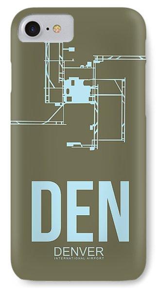 Den Denver Airport Poster 3 IPhone Case by Naxart Studio