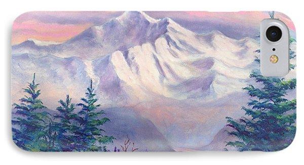 Denali Alpenglow Phone Case by Teresa Ascone