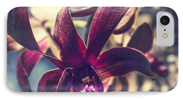 Dendrobium Black Spider Orchid Hawaii IPhone Case by Sharon Mau