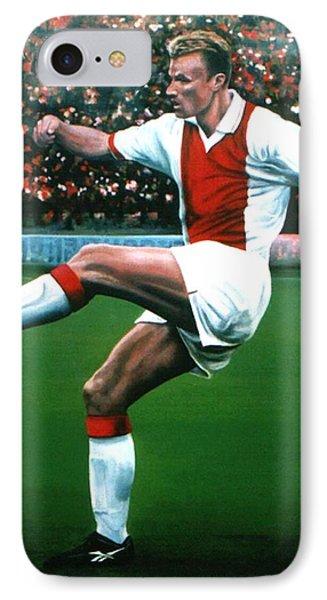 Dennis Bergkamp Ajax IPhone Case by Paul Meijering