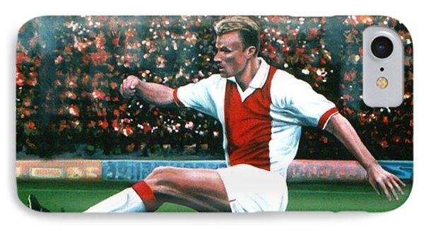 Dennis Bergkamp Ajax Phone Case by Paul Meijering