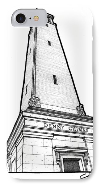 IPhone Case featuring the drawing Denny Chimes by Calvin Durham