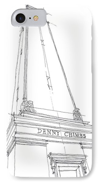 IPhone Case featuring the drawing Denny Chimes Sketch by Calvin Durham