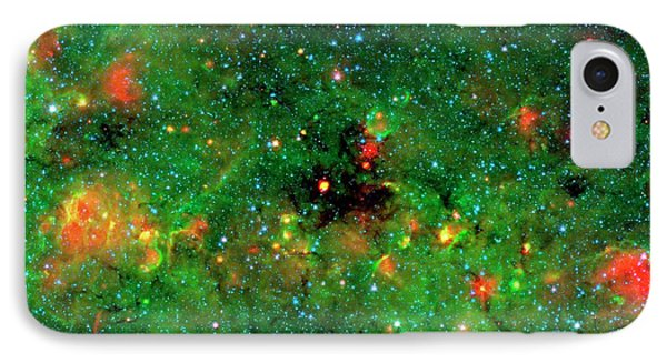 Dense Dust In Galactic Plane IPhone Case by Nasa/jpl-caltech/univeristy Of Zurich