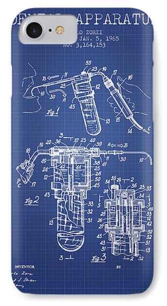 Dental Apparatus Patent Drawing From 1965 - Blueprint IPhone Case by Aged Pixel