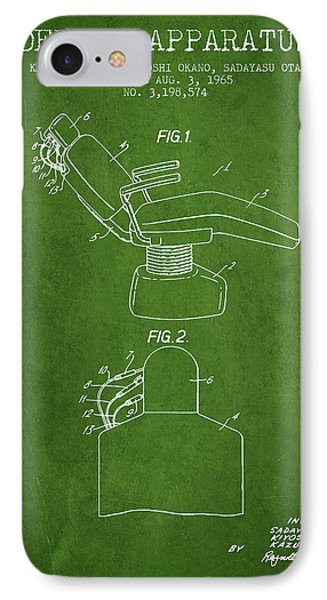 Dental Apparatus Patent From 1965 - Green IPhone Case by Aged Pixel