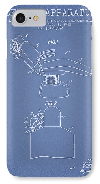 Dental Apparatus Patent From 1965 - Light Blue IPhone Case by Aged Pixel