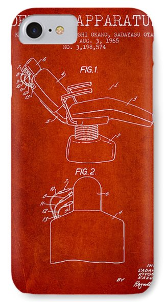Dental Apparatus Patent From 1965 - Red IPhone Case by Aged Pixel
