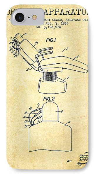 Dental Apparatus Patent From 1965 - Vintage IPhone Case by Aged Pixel