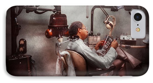 Dentist - Waiting For The Dentist Phone Case by Mike Savad