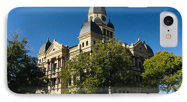 Denton County Courthouse IPhone Case by Allen Sheffield