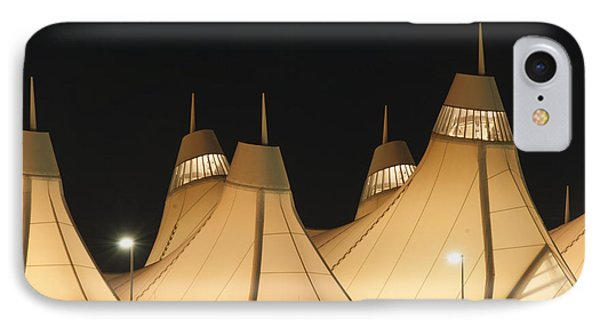 Denver Airport At Night IPhone Case by Juli Scalzi