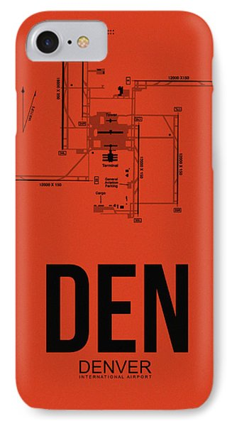 Denver Airport Poster 2 IPhone Case by Naxart Studio