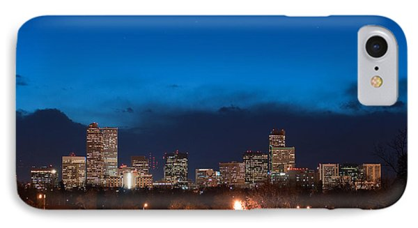 Denver At Twilight  IPhone Case by Eric Rundle