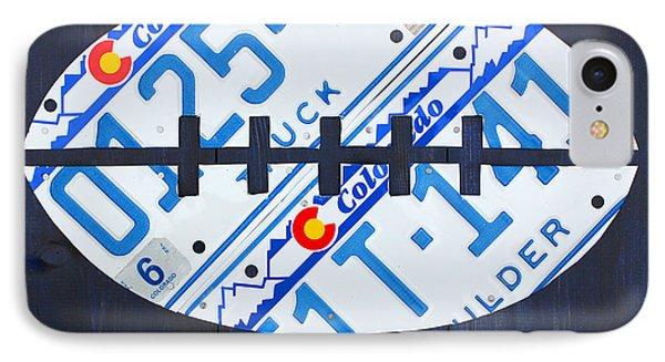 Denver Broncos Football License Plate Art Phone Case by Design Turnpike