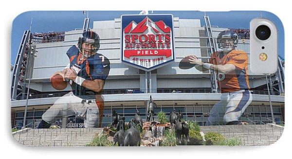 Denver Broncos Sports Authority Field IPhone Case by Joe Hamilton