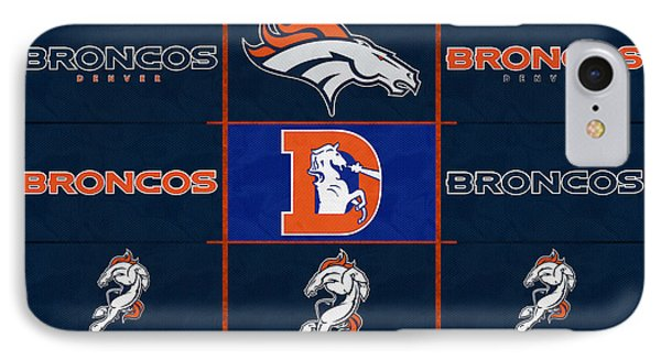 Denver Broncos Uniform Patches IPhone Case by Joe Hamilton